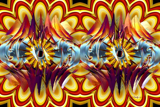 Fine Art Print - Electric Onion (Stereogram) - Art by Kinnally