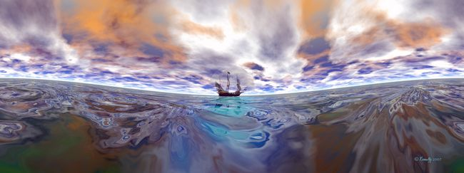 Fine Art Print 'The Golden Hind' - Art by Kinnally